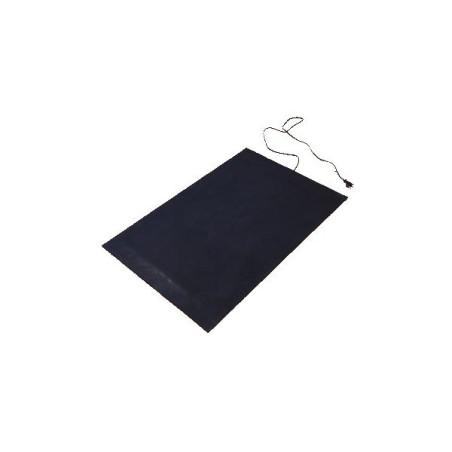 30x25cm, 10W, 230V, rubberen warmtemat 4mm dik met anti sliplaag voorzien van snoer met stekker en aan/uit schakelaar