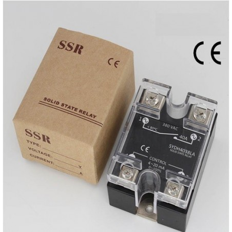SOLID STATE RELAIS 40A, 0-10VDC, 24~380VAC, PROPORTIONEEL
