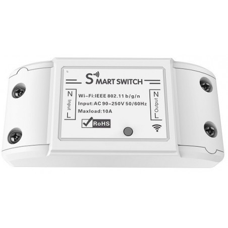 Wifi smart actor 10A, 2300W, R4967, Tuya compatible, woox compatible.