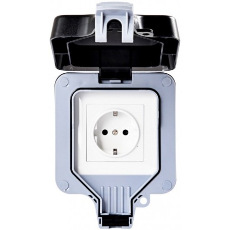 16A SMART OUTDOOR PLUG, IP66, POWERED BY TUYA [SCHUKO, 16A, 3680W, 100-240V, WI-FI, WOOX R4052]