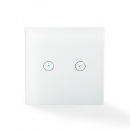 Lichtschakelaar smart, wifi, 2 voudig, 230Vac, build-in relais max 300W.