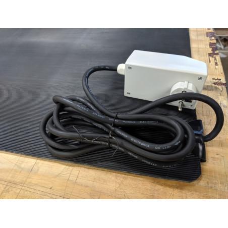 1400W set Optima W R3 wifi RF thermostaat 2 st warmte infraroodpaneel met korrelstructuur 700W, 230V, 2 st RF opbouw ontvangers