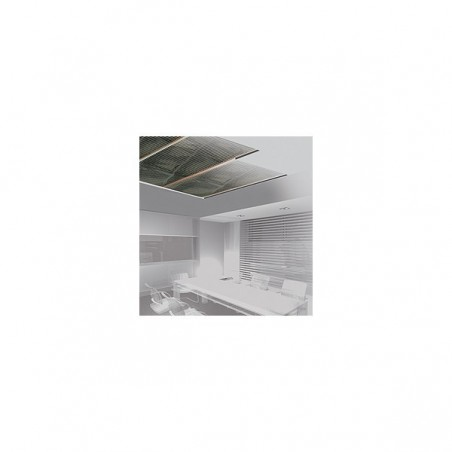 PLAFOND- WANDVERWARMING 60CM BREED, 2X20CM VERWARMD 200W/M2 of 50W/M2, 230VAC en testdocument